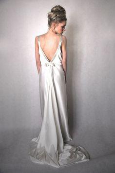Like Vintage  silk wedding gown by maryniagasiorowska on Etsy, $500.00