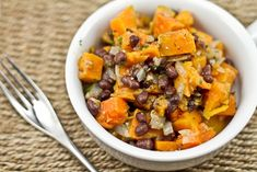 roasted sweet potato and black bean warm salad - one of my absolute favorite recipes to make (and the most requested from my boyfriend)