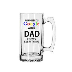 Father's Day Beer Mug, Google Beer Mug, Father's Day Gift, Gift For Dad, Dad Beer Mug, Gift For Him, Fathers Day Gift, Dad Mug by BlueKitty2000 on Etsy Fathers Day Poems, Happy Father Day Quotes, First Fathers Day Gifts, Fathers Day Mugs, Homemade Fathers Day Gifts, Diy Gifts For Dad, Diy Father's Day Gifts, Father's Day Diy, Birthday Wishes For Kids