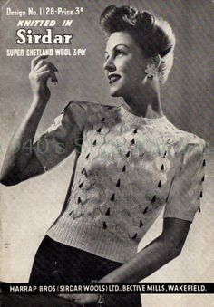 Style For You: Free Knitting Pattern - jumper - Sirdar 1128 Sirdar Knitting Patterns, Free Knitting, Sewing Patterns, Crochet Patterns, Vintage Vogue, Vintage Ladies, Jumper Patterns, Jumpers For Women, Women's Jumpers