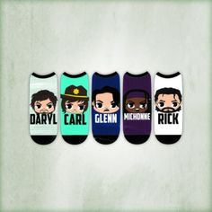 """The Walking Dead """"Chibi"""" Women's Low Cut Socks (5-Pack) http://www.shopthewalkingdead.com/the-walking-dead-chibi-women-s-low-cut-socks-5-pack/details/117658208?cid=social-pinterest-m2social-product"""