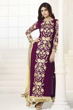 Go elegant with New Shilpa Shetty Purple Faux Georgette Salwar Kameez Shop now @http://zohraa.com/purple-faux-georgette-salwar-kameez-z1665… sku : 61546 Rs. 4,049 #shilpashetty #salwarsuits #suitsonline #suits #salwarkameez