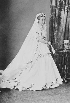 Helena in her wedding gown