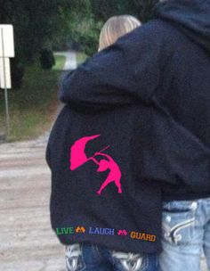 LiVe LaUgH GuArD Personalized Custom Name Color Winter Guard Flag Hoodie Sweatshirt S M L XL Unisex Hoody Hooded sweater COLORS Available on Etsy, $55.00