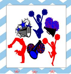 Cheerleader SVG Studio3 DXF EPS Png Cuttable by svgcutdesigns