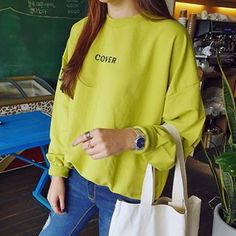Buy 'YOSH – Letter Drop-Shoulder Fleece-Lined Sweatshirt' with Free International Shipping at YesStyle.com. Browse and shop for thousands of Asian fashion items from China and more!