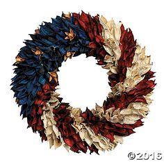 American Flag Floral Wreath $15
