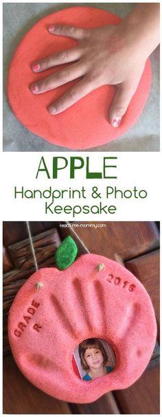 Apple keepsake to make for a Back-to-School photo!