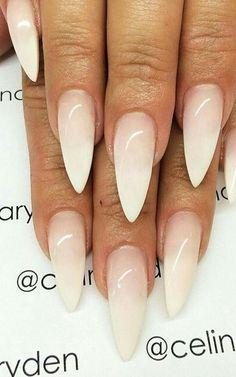 French fade stiletto nails