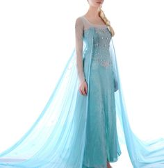 Cheap costume party dress, Buy Quality costume national dress directly from China costumes movie Suppliers: Elsa costume frozen costume princess elsa cosplay anime halloween costumes for women fantasy snow queen frozen dress cu Elsa Fancy Dress, Princess Elsa Dress, Frozen Elsa Dress, Disney Princess Dresses, Princess Costumes, Disney Dresses, Frozen Princess, Elsa Cosplay, Cosplay Dress