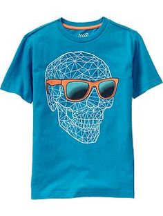 Another skull shirt that Xander really wants. Not happening. Boys Skull-Graphic Tees