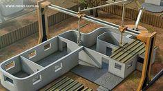 La impresión 3D llevada a una escala mayor que permite construir casas rápidamente