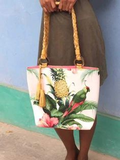 Caribbean Whimsy Braided Leather Bag from the Caribbean Whimsy Collection by Three Cords from Haiti