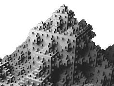 3D extension of quadratic koch curve by tsurushuu26, via Flickr