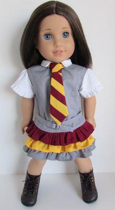 Faraway Downs Dress with necktie and belt by JenAshleyDollDesigns