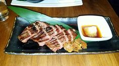 Harami (pretty much rare steak with a ginger, radish soy sauce dip.) #harami #japanese #dinner #steak #beef #rare #manly #pretty #yum #foodporn #foodgasm #foodie #williamsburg #brooklyn  Yummery - best recipes. Follow Us! #foodporn