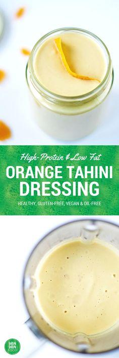 High Protein Chickpea, Orange & Tahini Dressing | WIN-WINFOOD.com