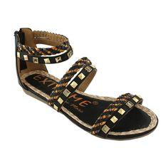 (10) Fab.com   Phyllis Gladiator Sandal Black