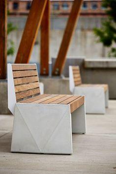 Strata Beam Bench – Street Furniture, UK – Famous Last Words Concrete Furniture, Urban Furniture, City Furniture, Street Furniture, Cheap Furniture, Furniture Design, Outdoor Furniture, Outdoor Decor, Furniture Online