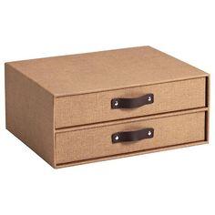 Chestnut Bigso Marten Paper Drawers
