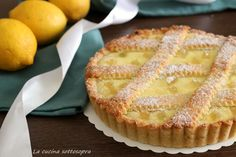 Lemon ricotta tart with oil pastry - The kitchen upside down Best Italian Recipes, Italian Desserts, Just Desserts, Favorite Recipes, Real Food Recipes, Cooking Recipes, Torte Cake, Italian Cookies, Cheesecake Recipes