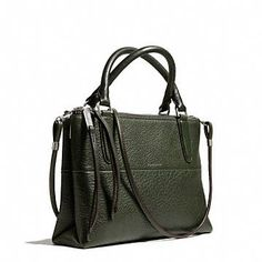 THE MINI BOROUGH BAG IN PEBBLED LEATHER... The green is to die for
