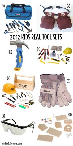 2012 Real Tool Sets for Kids: this one is available on amazon and qualifies for free shipping.