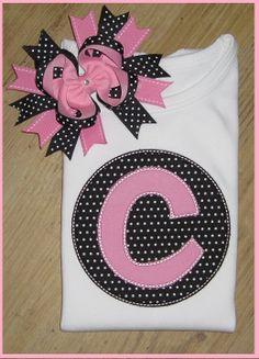 Applique Circle, Applique Letter-