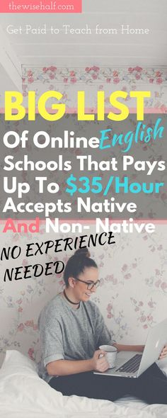 Heres a big list of online English schools you can apply even if youre experienced and inexperienced. With a degree or without a degree. get paid to teach. by thewisehalf Read Online Teaching Jobs, Teaching English Online, Online Tutoring, Teach Online, Teaching Ideas, Online Jobs From Home, Work From Home Jobs, Vip Kid, Importance Of Time Management