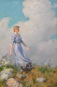 ~ Charles Courtney Curran ~ American painter, 1861-1942: Billows