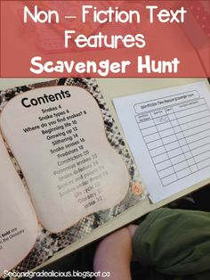 Have a scavenger hunt for non-fiction text features! FREEBIE