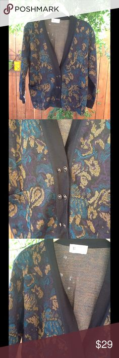 Women's Vintage Slouchy Cardigan Sweater Medium Slouchy style Cardigan, fits most Women size Medium - Large Vintage Sweaters Cardigans