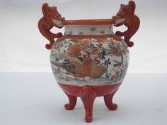 Meiji Japanese Kutani Porcelain Tripod by 1littletreasureshop, $35.00 #japanese porcelain