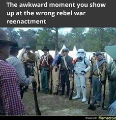 New funny memes humor awkward moments star wars Ideas Military Jokes, Star Wars Meme, Images Star Wars, Awkward Moments, Look At You, Looks Cool, I Laughed, Decir No, Funny Jokes