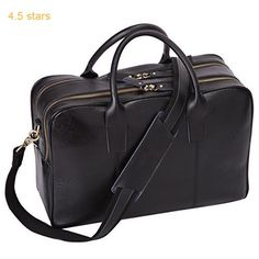 Leathario Real Leather Deluxe Mens Business Briefcase Laptop Shoulder Bag
