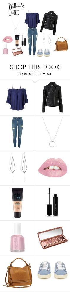 """""""Willow's Outfit"""" by x-thorn-x ❤ liked on Polyvore featuring LE3NO, Witchery, Roberto Coin, Diane Kordas, Maybelline, Marc Jacobs, Essie, Urban Decay, Urban Expressions and Yves Saint Laurent"""