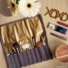 Follow our complete photo tutorial for making your own DIY make-up brush case. Keep your bathroom organized and get yourself ready for on-the-go travel!
