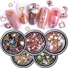"""Universe of goods - Buy """"ViiNuro 1 Box Mixed Colorful Rhinestones For Nails Crystal Stones For Nail Art Decorations Diy Design Manicure Diamonds"""" for only USD. Cat Eye Nails Polish, 3d Nails, Acrylic Nails, Coffin Nails, Design Diy, Stone Nail Art, Crystal Nails, 3d Crystal, Manicure"""