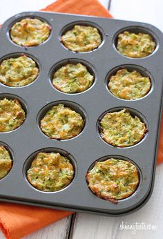 Zucchini Tots - delicious, just make sure to liberally oil the pan.