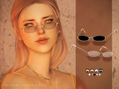 New mesh by me. Found in TSR Category 'Sims 4 Female Glasses' Mods Sims 4, Sims 4 Game Mods, Sims 4 Mods Clothes, Sims 4 Clothing, The Sims 4 Skin, The Sims 4 Pc, Sims Four, Sims 4 Cc Eyes, Sims 4 Mm Cc