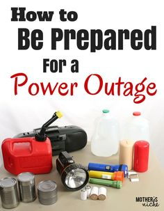 Great ideas for preparing for a power outage at home. A bunch of other emergency preparedness info too!