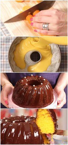 Bolo de Cenoura da minha sogra #bolo #cenoura #chocolate #receita #gastronomia #culinaria #comida #delicia #receitafacil