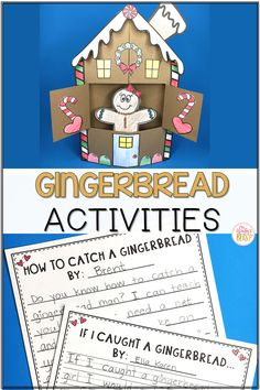 Free Gingerbread man ideas, activities, and printables ideal for kindergarten, first grade, and second grade students. Included in this post are gingerbread man literacy ideas and crafts, as well as gingerbread man books and how to build a gingerbread house. Kids will love the gingerbread man activities that make learning fun in your classroom! #gingerbreadmanactivities #gingerbreadhouseactivities # gingerbreadmanliteracyideas