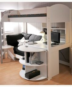 loft bed with sofa - Google Search
