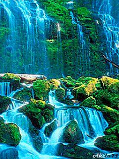 Forum > Fire And Water. Beautiful Gif, Beautiful Sites, Beautiful Places To Visit, Beautiful Waterfalls, Beautiful Landscapes, Waterfall Wallpaper, Foto Gif, Colorful Mountains, Waterfall Fountain