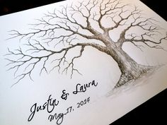 LARGE OAK Wedding Guest book tree 24x18  by LastingKeepsakes, $145.00