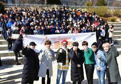BTS sorprendio a estudiantes coreanos afortunados con una visita personal ~ Viajando por el mundo POP - Espacio Kpop