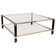 Very Chic Square Pierre Vandel Coffee Table | From a unique collection of antique and modern coffee and cocktail tables at http://www.1stdibs.com/furniture/tables/coffee-tables-cocktail-tables/