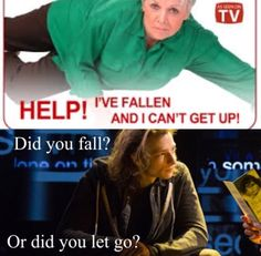 Did you fall? Or did you let go