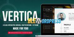 Vertica  WP Resume / CV & Portfolio Free at DLEWordPRess